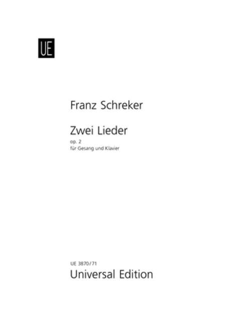 SCHREKER-2-SONGS-OP2-Vce-amp-Pft-Schreker-Franz-for-medium-voice-and-piano-979